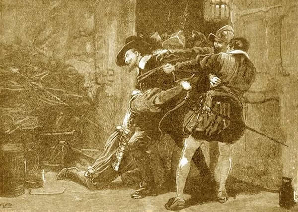 Arresto de Guy Fawkes.