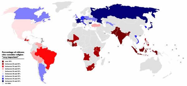 religiones procentaje creyentes