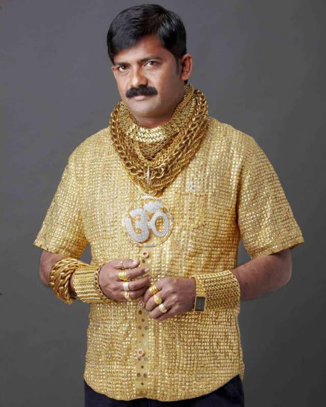 camisa oro Phuge Datta