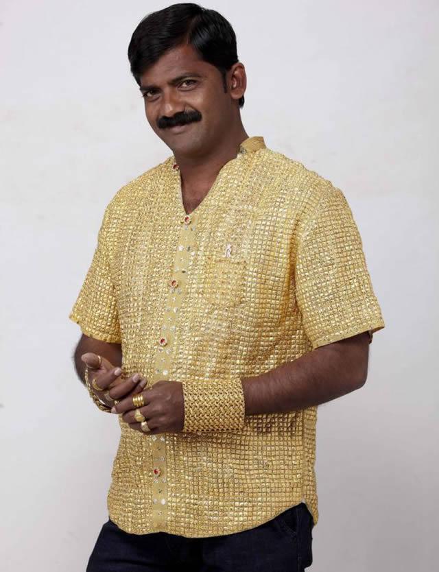 Phuge Datta camisa oro