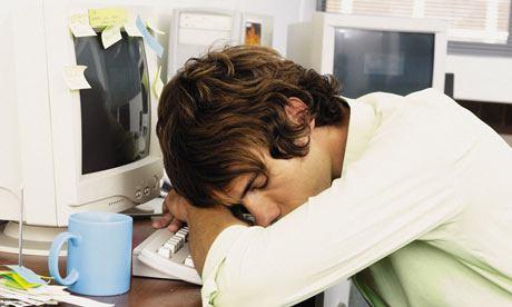 dormido trabajo