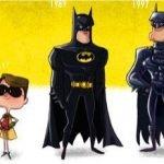 Evolución de personajes celebres por Jeff Victor