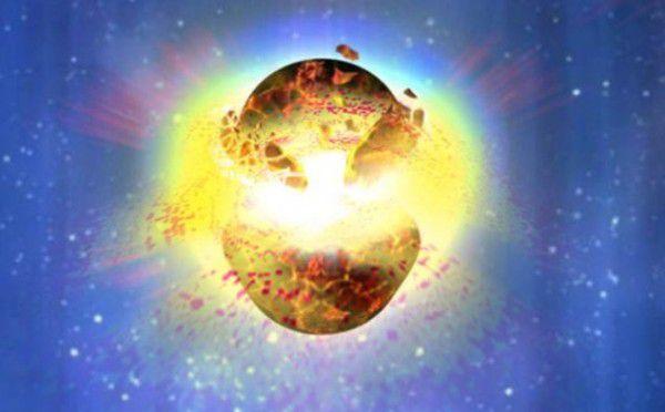 Colisión de estrellas de neutrones