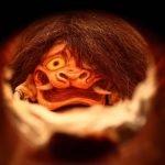 Peep Show de monstruos yōkai en miniatura