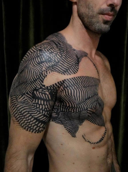 Tribal shoulder tattoos for men that are stunning and unique - Tatuajes Originales Estilo Photoshop Marcianos