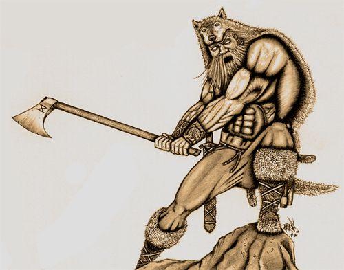 Berserkers, los guerreros invencibles Berserker_lobo