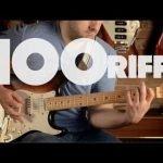 Breve historia del Rock, 100 riffs de guitarra