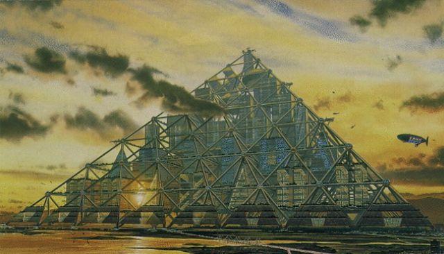 vision futuro ciudad piramide