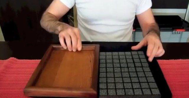 Truco de magia con azulejos