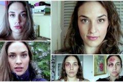 Cronología fotográfica de una mujer maltratada