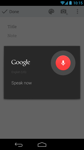 Google Keep voz