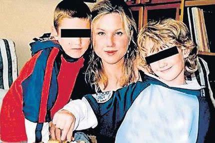 Klara Mauerova y sus hijos