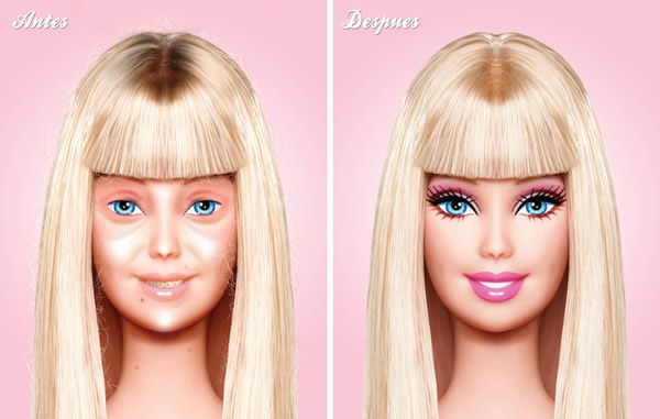 Barbie sin maquillaje – Marcianos