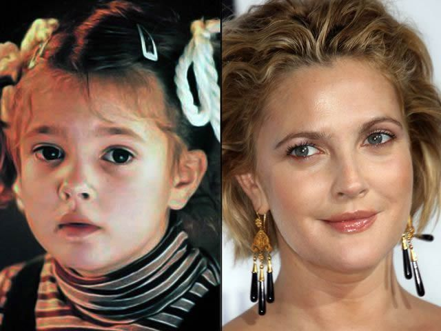 Drew Barrymore antes despues Famosos infancia()