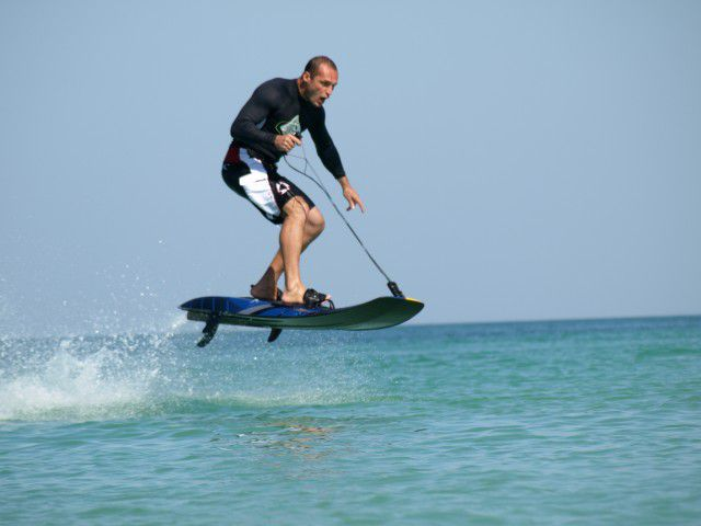 Jet surf volando