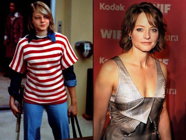 Jodie Foster antes despues Famosos infancia()
