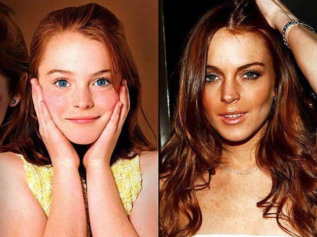 Lindsay Lohan antes despues Famosos infancia()
