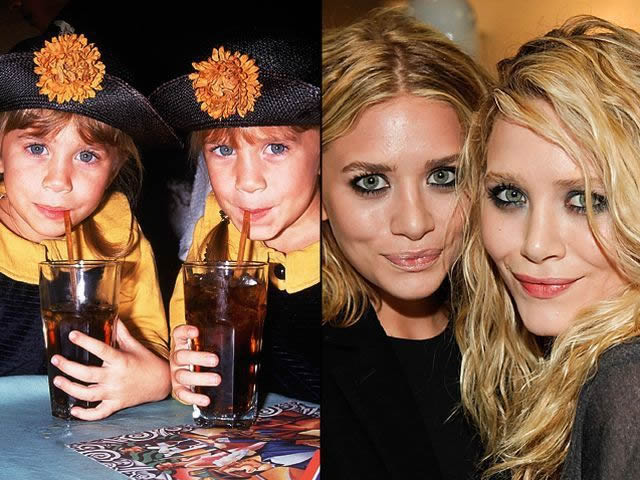 Mary Kate et Ashley Olsen antes despues Famosos infancia()