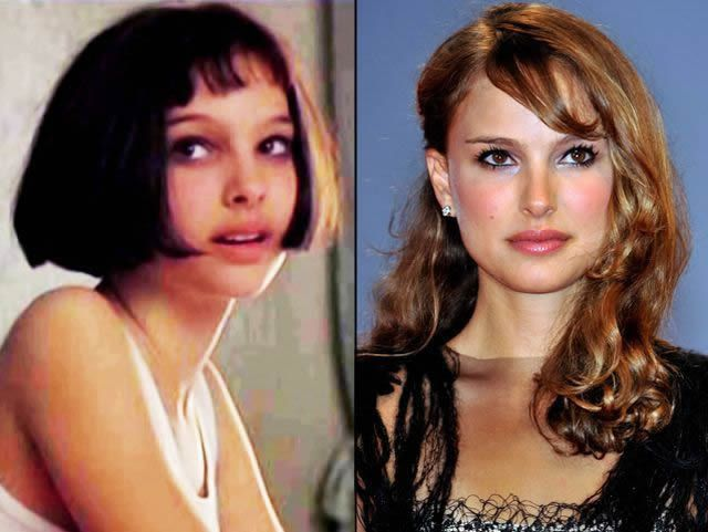 Natalie Portman antes despues Famosos infancia()