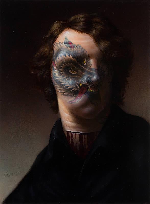 Pinturas grotescas de Rex van Minnen (7)