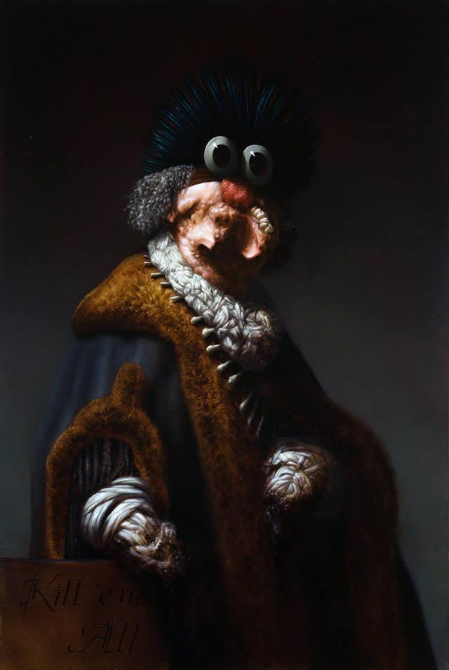 Pinturas grotescas de Rex van Minnen (6)