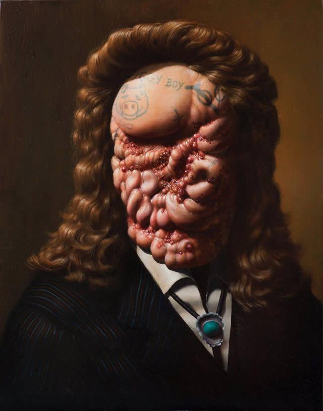 Pinturas grotescas de Rex van Minnen (2)