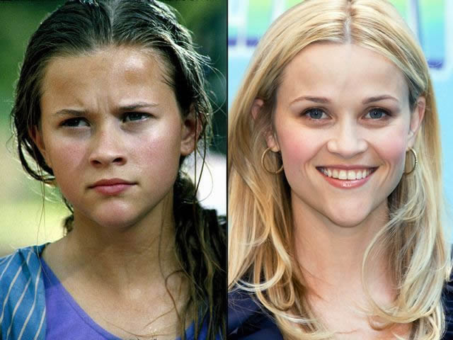 Reese Witherspoon antes despues Famosos infancia()