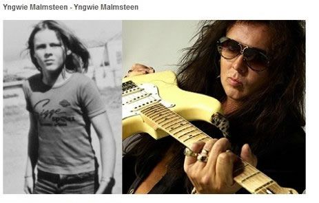 Yngwie Malmsteen antes despues Famosos infancia()