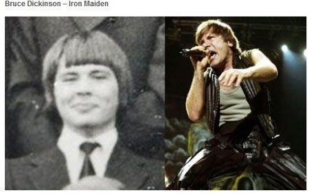 bruce dickinson iron maiden rock antes despues Famosos infancia()