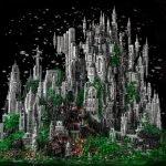 Mundo de fantasía LEGO hecho con 200 mil piezas