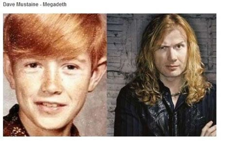 dave mustaine megadeth antes despues Famosos infancia()