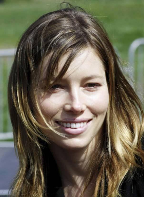 Jessica Biel sin maquillaje