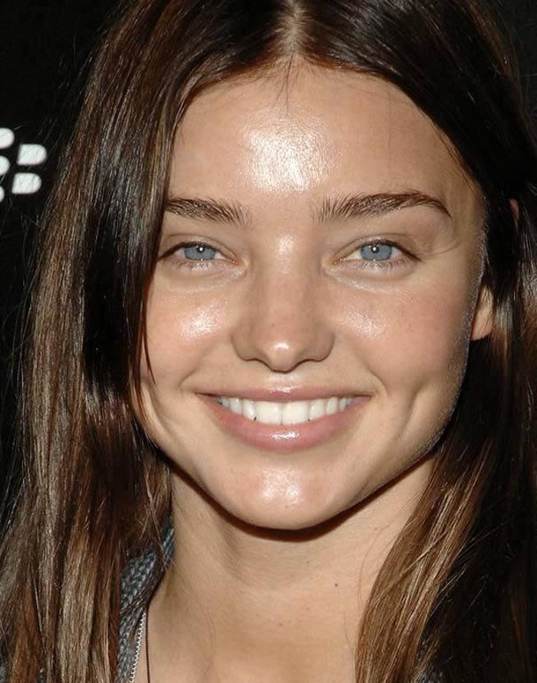 Miranda Kerr sin maquillaje