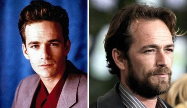 luke perry antes despues Famosos infancia()