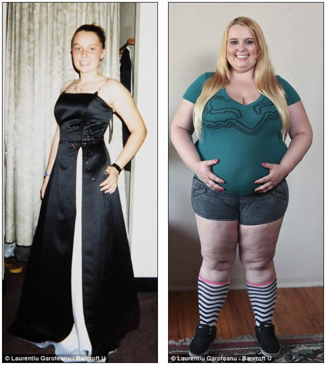 Tammy Jung gorda 5000 calorias al dia  3 Female Weight Gain Pictures Before After