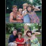 Fotos familiares el antes y después