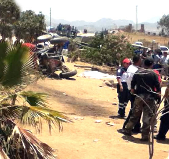Accidente fatal en Baja 500