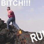 Video: Hombre corre sobre lava del volcán Etna