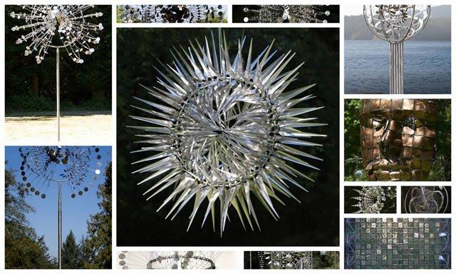 Esculturas cinéticas eólicas de Anthony Howe