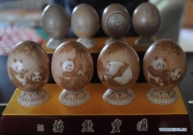 arte de esculpir huevos Pu Derong (1)