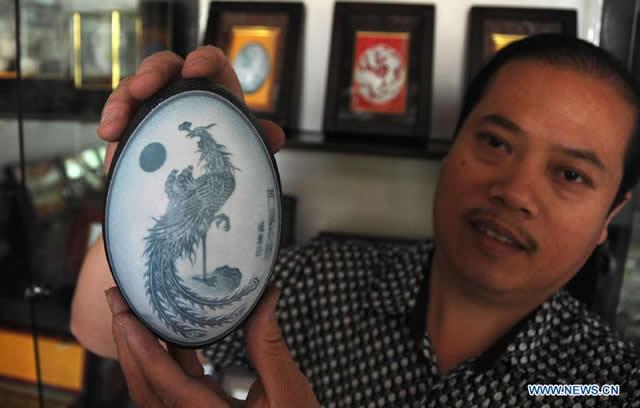 arte de esculpir huevos Pu Derong (2)