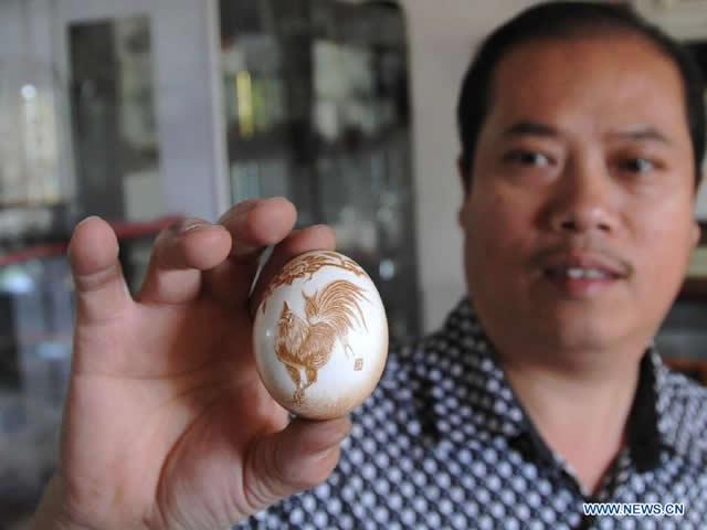 arte de esculpir huevos Pu Derong (4)