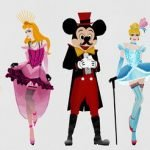 Princesas Disney estilo Moulin Rouge
