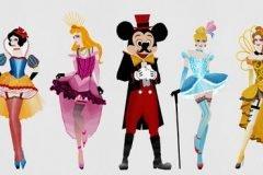 Princesas Disney estilo buslesque (6)