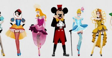 Princesas Disney estilo buslesque (6)