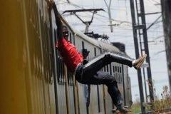 surfistas de tren de Soweto