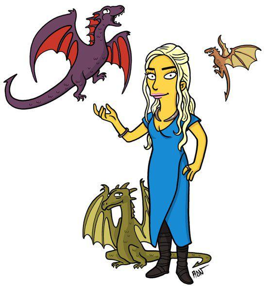 Daenerys Targaryen versión Simpsons (11)