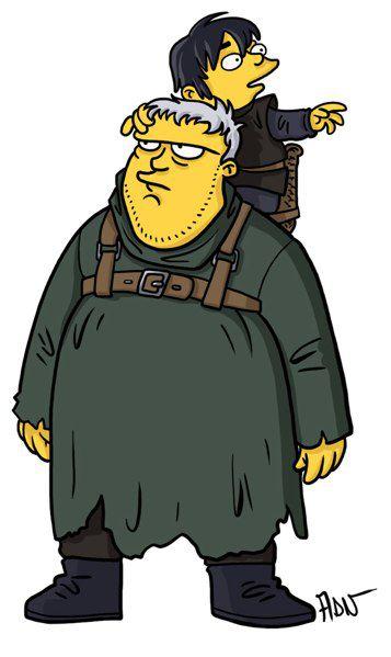 Hodor y Bran Stark versión Simpsons (12)
