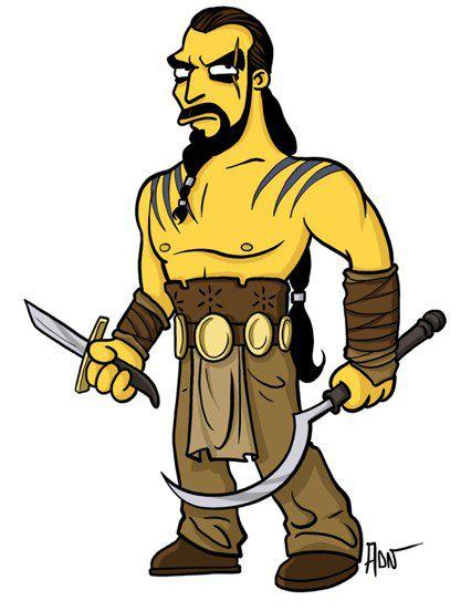 Khal Drogo versión Simpsons (8)