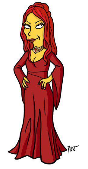 Melisandre versión Simpsons (7)